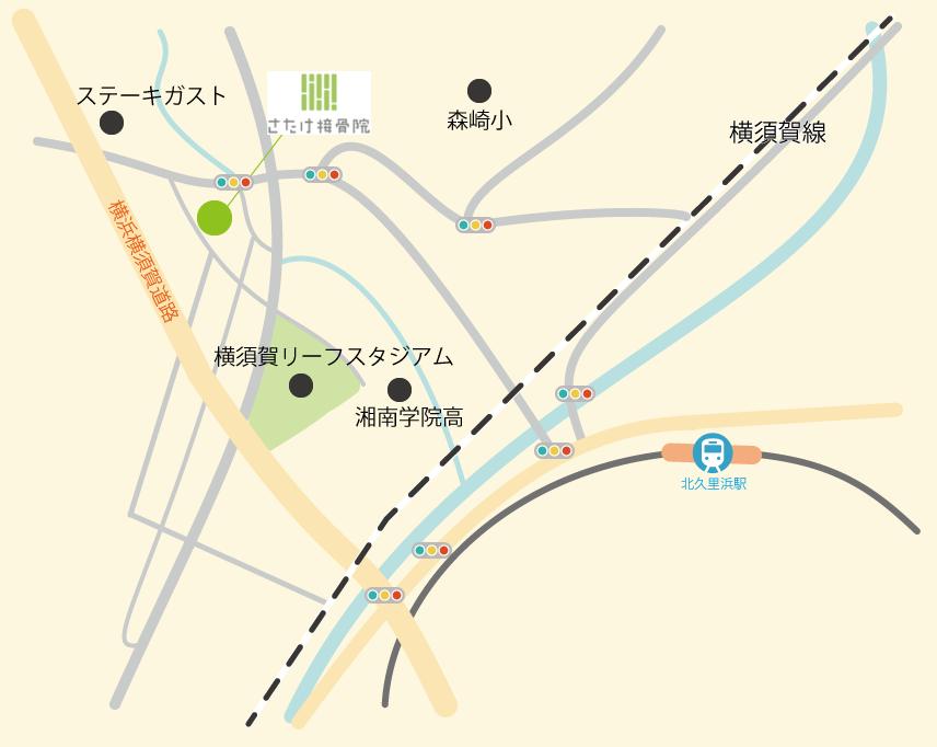 さたけ接骨院map